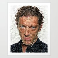 actor Art Prints featuring French Actor by Miguel A. Martin