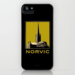 Vintage Norvic Cathedral with Bold, Beautiful Color iPhone Case
