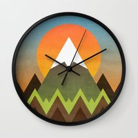 camp Wall Clocks featuring Camp by Elisabeth Fredriksson