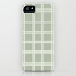 Grid on a Grey Background iPhone Case