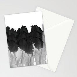 Black tulips Stationery Cards