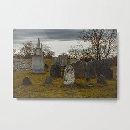 Old Burial Hill, Marblehead, MA Metal Print
