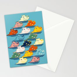 Happy Hippo Family Stationery Cards