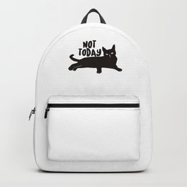 Grouchy Grumpy Cat Person Not Today Cat Lover Cat Lady Mom Dad Backpack