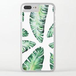 Tropical Banana Leaves 2 #society6 #buyart Clear iPhone Case