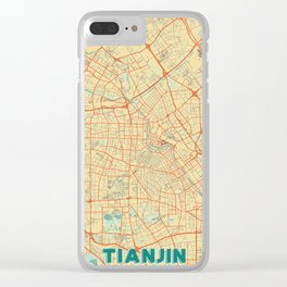 Tianjin Map Retro Clear iPhone Case