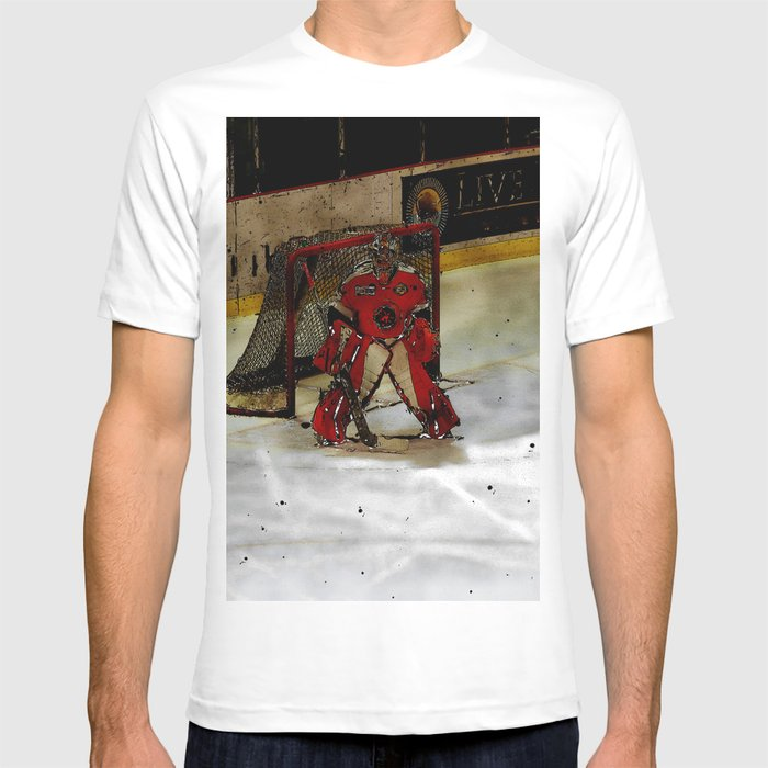 4c284d6d979 Life Goals - Ice Hockey Goalie Motivational Art T-shirt by skyeryanevans