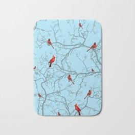 Winter Cardinals Bath Mat