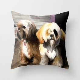 Afternoon Sentries Throw Pillow