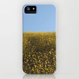 Mustard Flowers iPhone Case