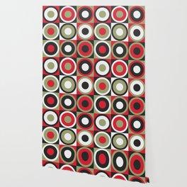 Lucky Strike retro circles Wallpaper