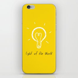 Light of the World - yellow iPhone Skin