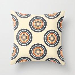 Classic Retro Colour Record Design Throw Pillow