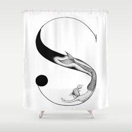 Mermaid Alphabet - S Shower Curtain