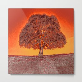 The Tree. Silence. Warmth. Quietude. Metal Print
