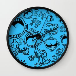 Boy Screaming Wall Clock