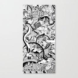 Complicado Doodle Canvas Print