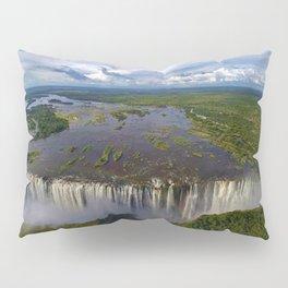 Victoria Falls with Rainbow, Zambia and Zimbabwe, Africa Pillow Sham