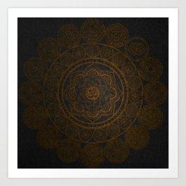 Circular Connections Copper Art Print