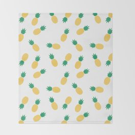 PINEAPPLE ANANAS FRUIT FOOD PATTERN Throw Blanket
