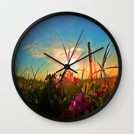P-Town sunset Wall Clock