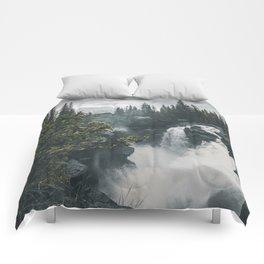 Athabasca Falls Alberta Comforters