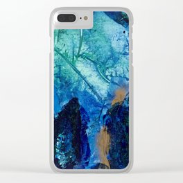 Sea Leaves, Tiny World Collection Clear iPhone Case