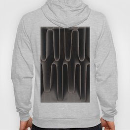 Industrial Waves   Metal Coils Abstract   Contemporary Art Hoody