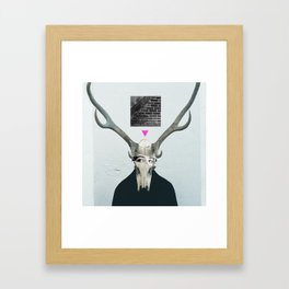 Deer woman Framed Art Print
