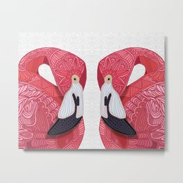 Pink Flamingos 2016 (white) Metal Print