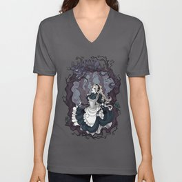 Alice and the Cheshire Cat Unisex V-Neck