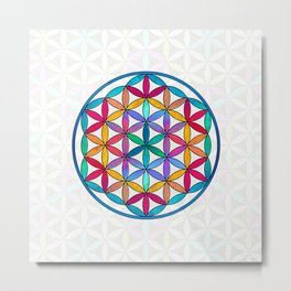 Flower of Life variation 3 Metal Print