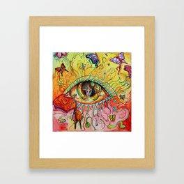 Butterfly Window Framed Art Print