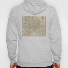 Vintage Downtown Boston Subway Map (1917) Hoody