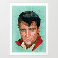 elvis Art Prints featuring Elvis by Patrick Anthony Leverton