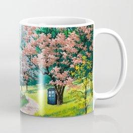 Tardis Art Street Autumn Coffee Mug
