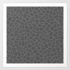 Staklo (Gray on Gray) Art Print