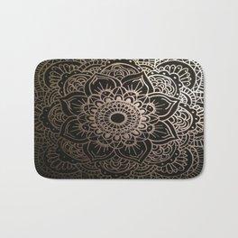 Silver Mandala Bath Mat