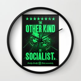 """Vintage """"The Other Kind of Socialist"""" Alcoholic Lithograph Advertisement in bright green Wall Clock"""