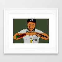 asap rocky Framed Art Prints featuring ASAP Yams by ashakyetra