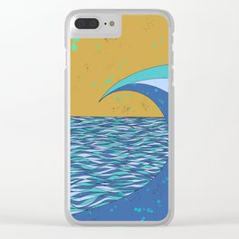 Sunset VIII Clear iPhone Case