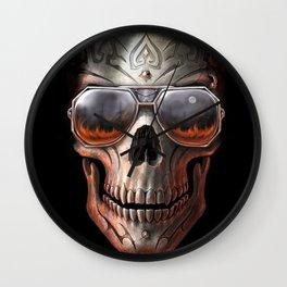 triball skull / Gothique Poster - Feu D'Enfer Wall Clock