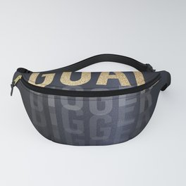 Goal Digger - Gold on Black Fanny Pack