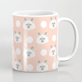 Ella - Birmin breed cat lovers pet owners cat person gift idea for cat lady hipster white cute kitte Coffee Mug