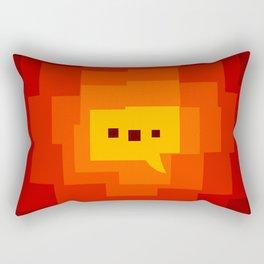interesting background main color interaction Rectangular Pillow