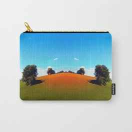 Trees, a hidden farm and fields of summer Carry-All Pouch