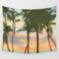 palm Wall Tapestries featuring palm by OVERall