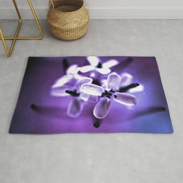 In The Gloaming Blooms Wild Flowers Rug