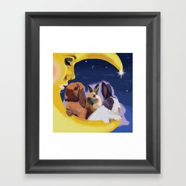 Once Upon A Moon Framed Art Print