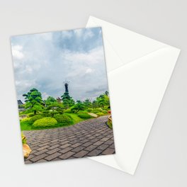 Luo han song tree landscpae Stationery Cards